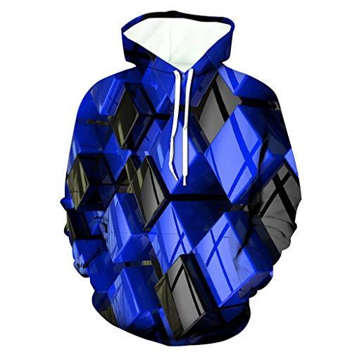 3D Print Hoodies Herren 3D Funny Jacke Langarm Kapuze Herren Ski Jacken Coat Hoodie Bluse Tops