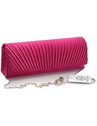 Mesdames sac à main d'embrayage avec un motif en strass élégant en couleurs élégantes de satin de velours