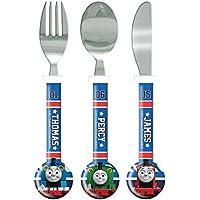 Thomas the Tank Engine Cutlery Set, 3 piece, Knife/Fork/Spoon, Blue Multi-Colour