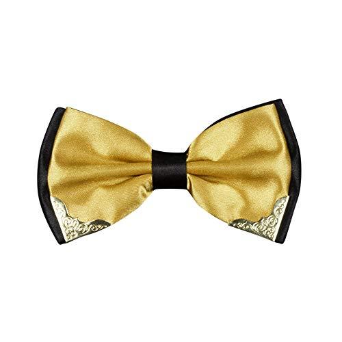 Syeytx Adjustable Fashion Men Zweifarbige Metallecke Formelle Hochzeit Britische Mode Fliege Neuheit Smoking Krawatte Fliege