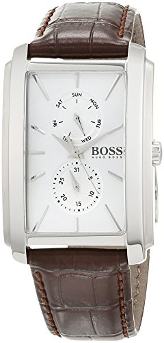 Hugo BOSS Unisex-Adult Multi dial Quartz Watch with Leather Strap 1513592