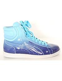Puma - Zapatillas de baloncesto de Piel para mujer Azul azul