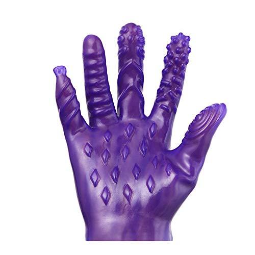 Magie Palm Hand Masturbator Sex Handschuh Weibliche Masturbation Brustwarze Vagina Massage Handschuh Paar Erwachsene Spiele Sex Spielzeug - Lila