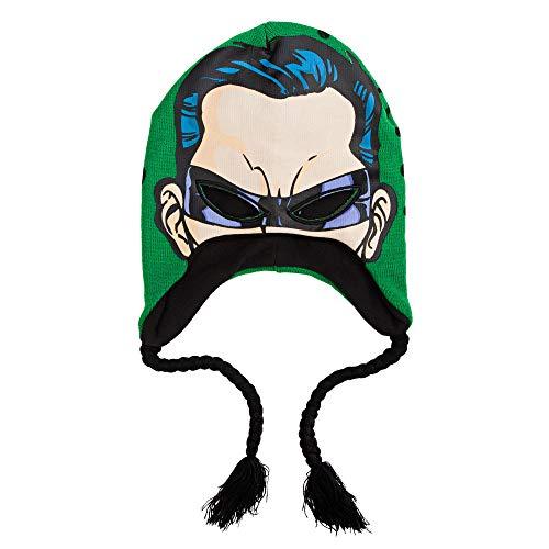 DC Comics The Riddler Face Print Laplander Beanie Hat