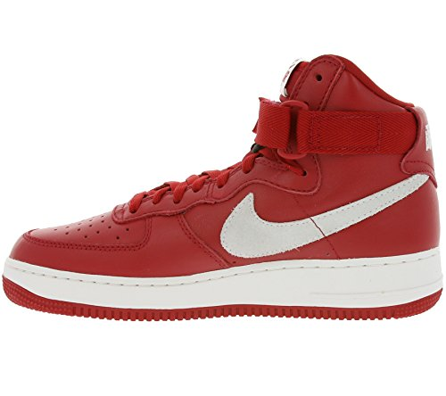 Nike Herren Air Force 1 Hi Retro QS Handballschuhe, Schwarz und Weiß Rot / Weiß   (Gym Red/Summit White)