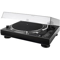 Dual DTJ 301.1 USB - Tocadiscos para DJ (33/45 U/min, control de velocidad, sistema fonocaptor magnético, iluminación de agujas, cable USB), color negro [Importado de Alemania]