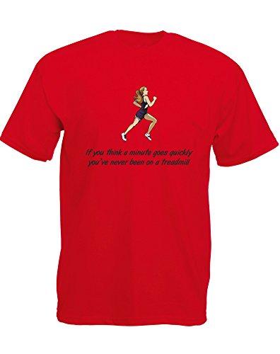 You've Never Been On A Treadmill, Mann Gedruckt T-Shirt Rote/Schwarz/Transfer