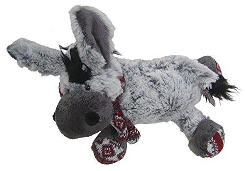Preisvergleich Produktbild süßes superweiches Stofftier Esel mit Schal aus Mikrofaser, voll waschbar bei 30 Grad, Länge ca. 30 cm