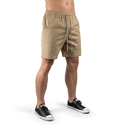 c0650b13f820c3 Sixlab Lifestyle Chino Shorts Herren Kurze Hose Pants (L, Khaki)