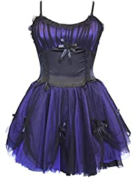 Dark Star Cute Gothic Fairy Satin/Ruched Netting/Tutu Dress DS/DR/7439 Halloween Steampunk