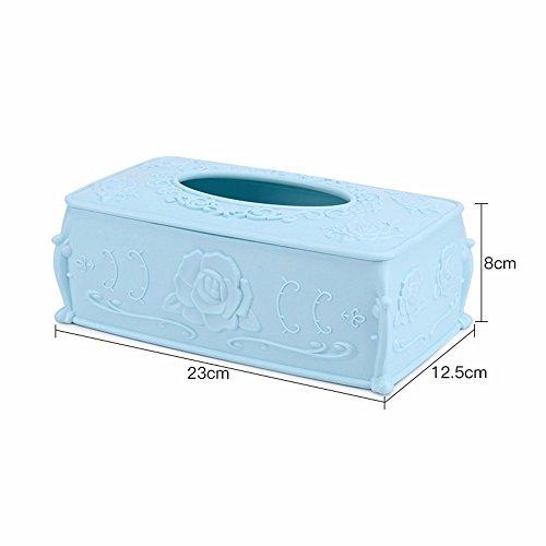 lostryy Wohnzimmer Tee Tisch Aufbewahrungsbox Haushalt Saugnapf Karton europäischen Papier Serviette, E (Metall Flache Serviette Halter)