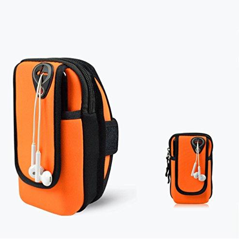 Running Armband Phone Holder, Cheeroyal 5,5 '' Sweat-Free Sport Armband Tasche für iPhone 7/6 / 6s / 5 / SE / iPod, Samsung Galaxy S5 / S4 / S3, LG, HTC, Huawei Mobiltelefon Bis zu 5,5