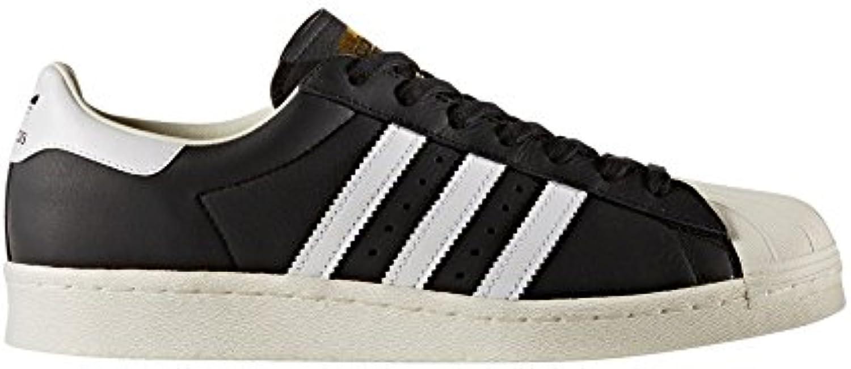 adidas Schuhe – Superstar schwarz/weiß/golden Größe: 40 2/3 -