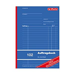 Herlitz Order Book A5 2 x 40 Sheets Self-Copying Professional Size – Pack Of 1