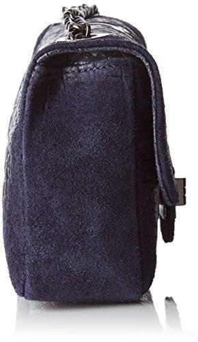 Chicca Borse 10029, Borsa a Mano Donna, 20 x 11 x 6.5 cm (W x H x L) Blu