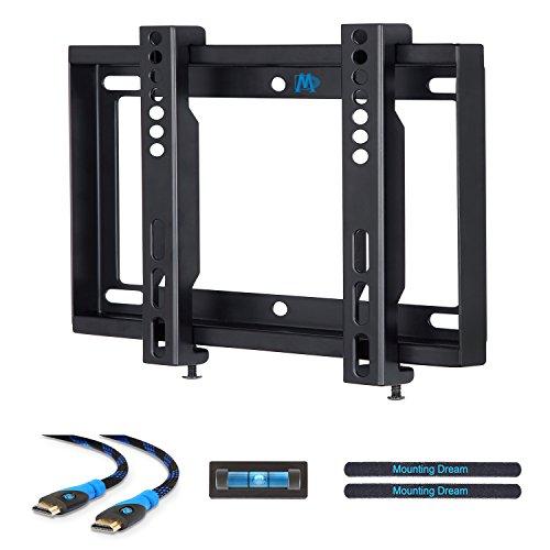 Mounting Dream MD2351-02 TV Wandhalterung Feste Halterung für die meisten 26-42 Zoll LED, LCD und Plasma TVs bis zu VESA 200x200 mm und 30 kg