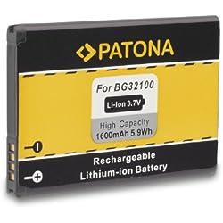 Batterie BG32100 BG-32100 pour HTC A9393 | Desire S | Desire Z | 7 Mozart | A7272 | C510e | Incredible S | Salsa | T8699 | Vision | S510e | S710e | S710d | S715E et bien plus encore… [ Li-ion; 1600mAh; 3.7V ]