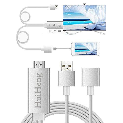 HuiHeng 3 en 1 Full HD Câble HDMI Miroiring Câble HDMI Lightning...