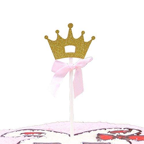 50 Packs Gold Alles Gute zum Geburtstag Kuchen Topper Dekoration Braut oder Geburtstag Baby Shower oder Party (Größe : Crown)