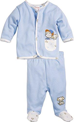 Schnizler Baby - Jungen Jogginganzug Junge und Hündchen, 2-teilig Sweatjacke und Strampelhose, Oeko-Tex Standard 100