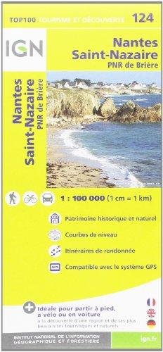 TOP100124 NANTES/SAINT-NAZAIRE  1/100.000