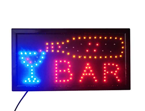 LETRERO CARTEL LUZ LUMINOSO LED - BAR. IDEAL PARA ESCAPARATE
