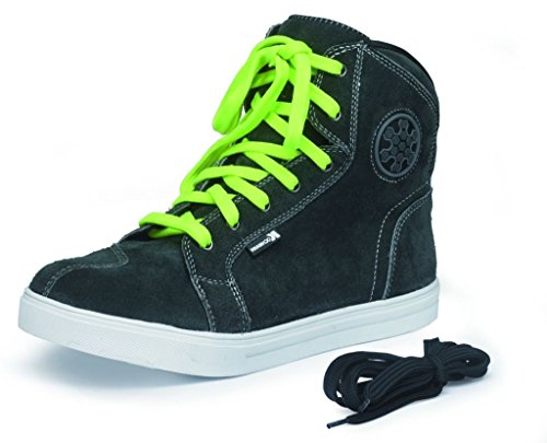 """Preisvergleich Produktbild Motorradstiefel Touren Stiefel Sneaker Leder dunkelgrau """"Twister"""" 45"""