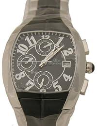 Oskar Emil BELFORT BLACK - Reloj para hombres, correa de acero inoxidable color plateado