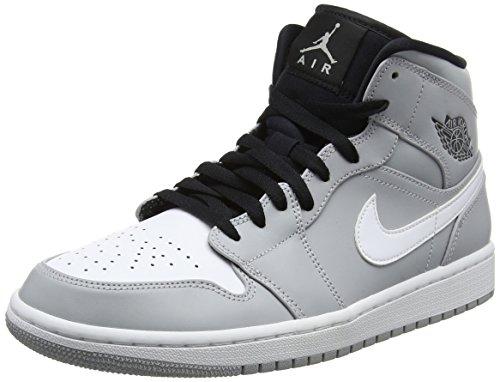Nike Men's Air Jordan 1 Mid Sneakers, White