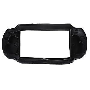 SODIAL (R) NEU schwarz Silikon Skin Protector Deckung Huelle fuer Sony PS Vita PSV