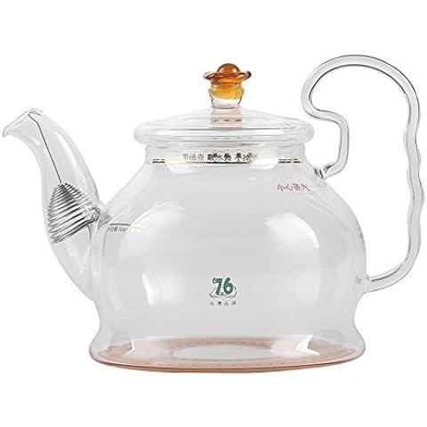Vetro borosilicato bollitore teiera Brocca esclusivamente per piano cottura a induzione, per tè e bustine di tè, resistente al calore, 880ml (30oz)