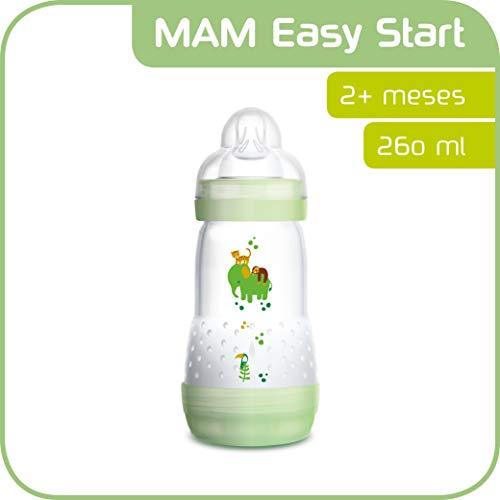 MAM Easy Start Anti-Colic 2+ meses - Biberón anticólicos con base de ventilación y tetina MAM nº...