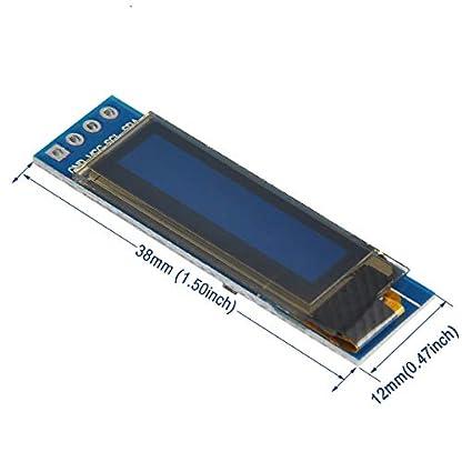 MakerHawk-2pcs-I2C-OLED-Anzeigemodul-091-Zoll-I2C-SSD1306-OLED-Anzeigemodul-Blau-I2C-OLED-Bildschirm-Treiber-DC-33V-5V-fr-Arduino