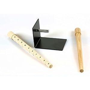 2 Ringstöcke mit Halter aus Holz