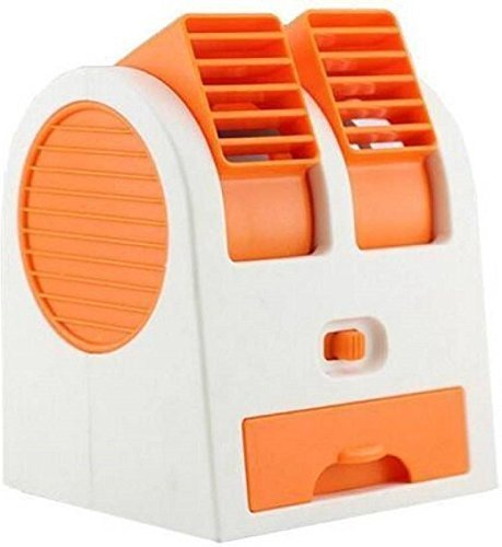 RUDRA™ Mini Fan & Portable Dual Bladeless Small Air Conditioner Water Air Cooler Powered by USB (Multicolor)