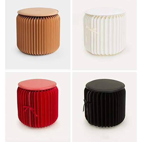 Preisvergleich Produktbild WY Europäische Klappstuhl Papierhocker,  Hocker Mode kreative Tee Hocker Hause kleine Wohnung Möbel kreative Klappstuhl Platz sparen Möbel (Farbe : SCHWARZ)