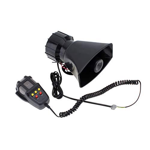 Vosarea 100 Watt 12 V 5 Sound Elektrische Horn Sirene Air Horn Lautsprecher Warnung Alarm Passt Auto Van LKW Boot (Schwarz)