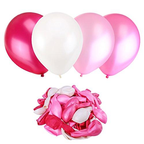 *NUOLUX Ballons,Ballons en latex,3,2 g rose mariage ballons Party, haute qualité, 4 couleurs, 50pcs Achat