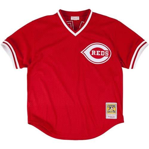 Mitchell & Ness Cincinnati Reds Chris Sabo Authentic Mesh Batting Practice Jersey Rot, Herren, Rot, 5X-Large (64) -