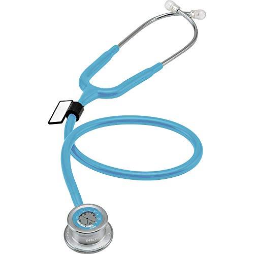 MDF Instruments Pulse Time MDF74003, Estetoscopio de una cabeza y reloj digital LCD 2 en 1, azul pastel...