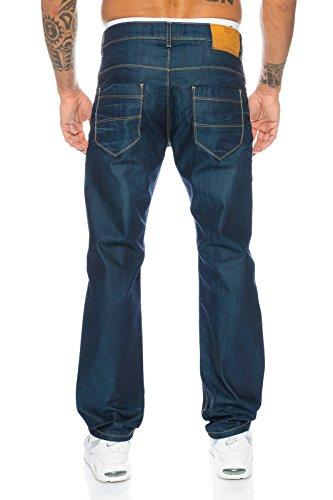 Rock Creek Herren Jeans Hose Denim Stretch Jeanshose Stonewashed W29-W44 LL-308 Dunkelblau