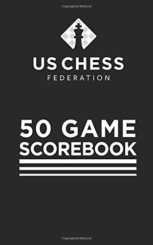 US Chess Federation - 50 Game Chess Scorebook - Soft Cover - Black