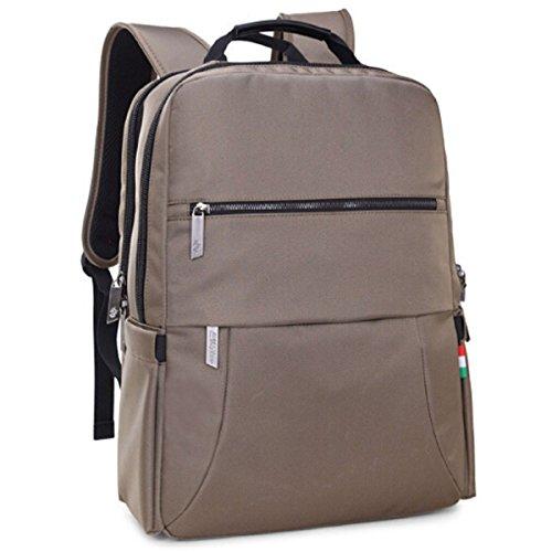 Borsa A Tracolla Del Sacchetto Dello Studente Della Scuola Media Del Grande Capienza Casuale Backpack Di Viaggio All'aperto,Black Khaki