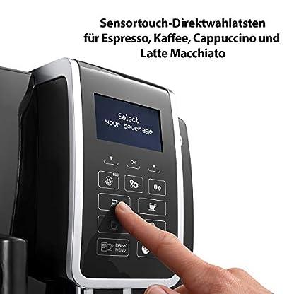 DeLonghi-Dinamica-ECAM-35055B-Kaffeevollautomat-mit-integriertem-Milchsystem-Digitaldisplay-mit-beleuchteten-Tasten-automatische-Reinigung-2-Tassen-Funktion-236-x-429-x-348-cm-schwarz