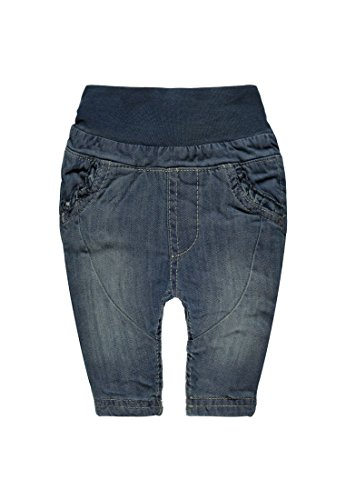 Steiff Collection Mädchen Jeanshose Hose Jeans, Gr. 62, Blau (superstone dirty denim 0028)