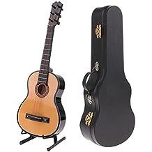 Blesiya Modello Miniarura Strumenti Musicale Scatola Supporto Ornamento Collezione Decorativo Ufficio Legno Regale - Chitarra # 1