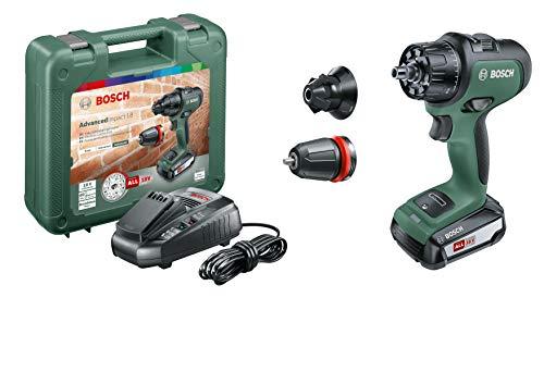 Bosch Akku Schlagbohrmaschine AdvancedImpact 18 (1 Akku, 18 Volt System, im Handwerkerkoffer)