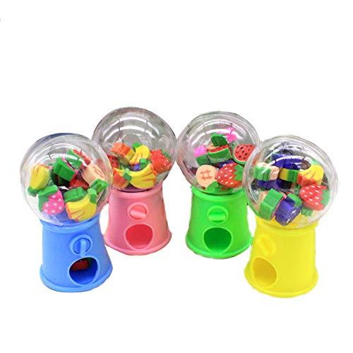 Cartoon Eraser Caps niedliche Frucht verdrehte Ei-Maschine Eraser Arrowhead verschiedene Farben Pentil Top-RadierGummis in Bulk Pack von 1 Flasche (Farbe zufällig) (Bleistift Top Radiergummi Bulk)