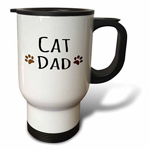 hiekon chat Dad en deux pattes x Tasse de voyage, 14-Ounce
