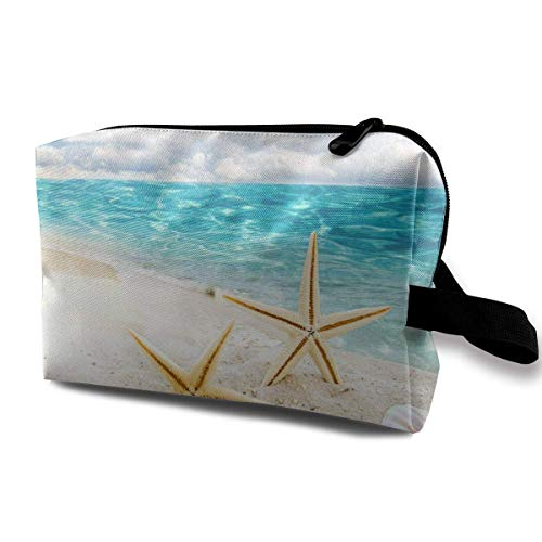 Travel Makeup Cosmetic Bag Brush Pouch Sunny Day Sea Zipper Pen Organizer Carry Case Makeup kit Bag